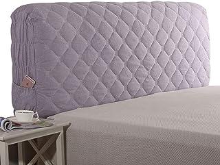 HDGZ Cojín Apoyo Cubierta para Cabecero Cojines Cojín A Prueba De Polvo Elástica Funda Protectora De Cabecera De Cama Sólida Decoración De Dormitorio (Color : Purple, Size : 190 * 60cm)