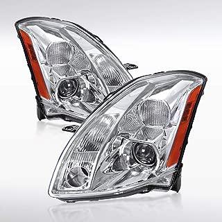 Autozensation For Nissan Maxima SE SL Chrome Clear Projector Headlights Left+Right Pair