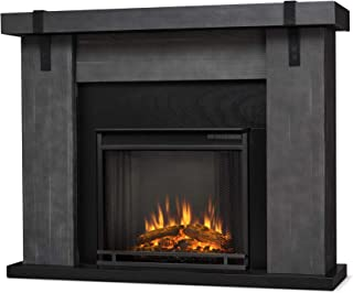 Real Flame Aspen Electric Fireplace Barn Wood Grey