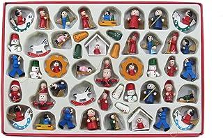 Kurt Adler Petite Treasures Wooden Ornament, Set of 48