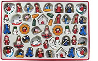 retro wooden christmas decorations