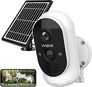 Wireless Outdoor Security Camera, VANBAR WiFi Solar Security Camera, 1080P Battery Powered Camera for Home Security with N...