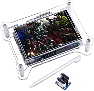TFT Touch Screen, Kuman 3.5 Inch TFT LCD Display Monitor with Protective Case Support All Raspberry PI System, Video Movie...