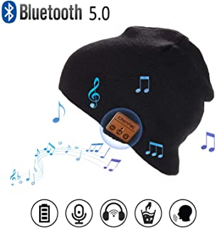 HONGYU Fashion Bluetooth Beanie Music Hat Wireless Smart Beanie Music Cap with HD Stereo Speaker,Built-in Mic Noise Cancel...