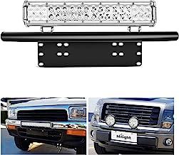 Nilight - 90021B Led Light Bar Mounting Bracket Front License Plate Frame Bracket License Plate Mounting Bracket Holder fo...