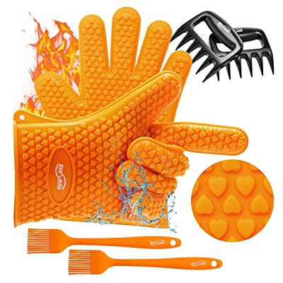 Housmile Grilling Silicone Gloves, Meat Claws  ...
