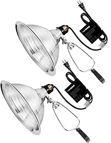 wholesale VIVOSUN Clamp Lamp Light with Detachable 8.5 Inch Aluminum Reflector up to 150 2021 Watt E26 Socket (No Bulb Included), 6 Feet Cord, UL Listed, lowest Pack of 2 outlet sale