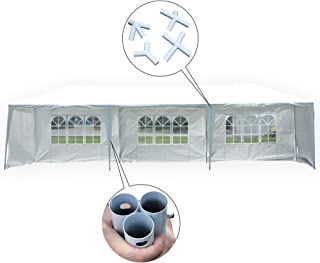 MCombo 10x30 Feet Outdoor Heavy Duty Canopy Tent Wedding Party Waterproof Gazebo Pavilion with Removable Sidewalls 6052 (10'x30'-5pc with Metal Connector)