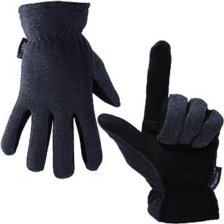 Men Women Winter Gloves Deerskin Suede Leather Palm -20°F Cold Proof Work Glove