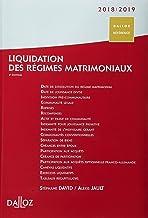 Livres Liquidation des régimes matrimoniaux 2018/2019 - 4e éd. PDF