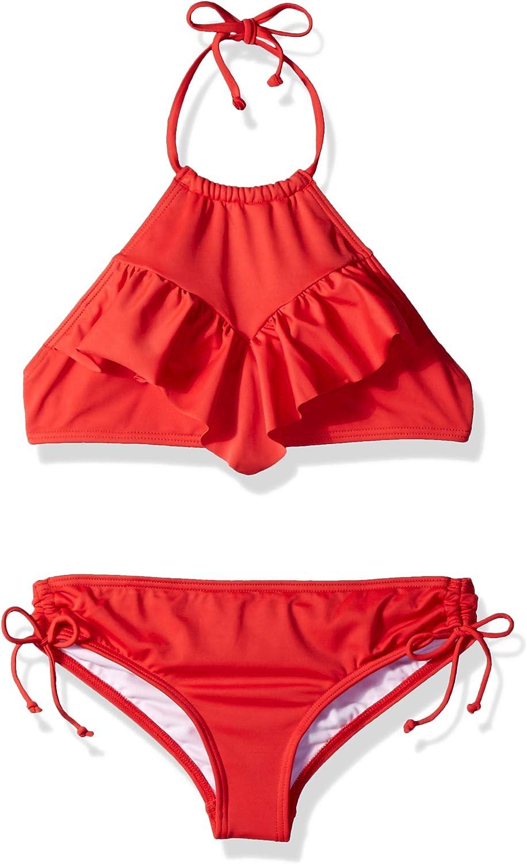Billabong Women's Big Girls' Sol Searcher Hi Neck Two Piece Swim Set