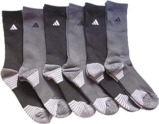 adidas Men's Athletic Moisture Wicking Cushioned Crew Socks 6-Pack