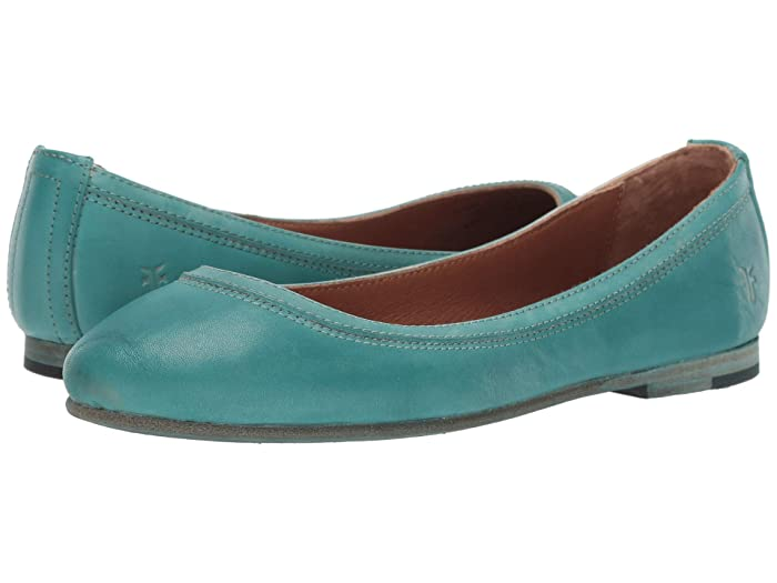 Frye  Carson Ballet (Turquoise) Womens Flat Shoes