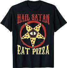 Hail Satan, Eat Pizza Funny Satanic Occult Pizza Tee