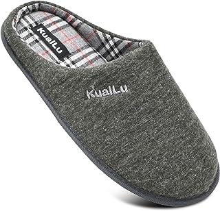 KUAILU Zapatillas de Estar en Casa Hombre cómodo Espuma de Memoria Pantuflas con Antideslizante Suela Tallas del 40 al 47