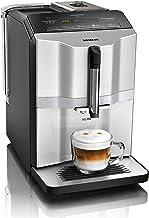 Siemens EQ.300 volautomatische espressomachine, TI353501DE, compact formaat, eenvoudige bediening, 1.300 watt, zilver