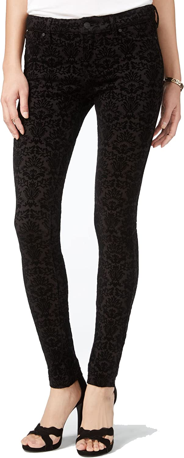 Celebrity NEW before selling Pink Juniors' Flocked Skinny Black Jeans Gifts