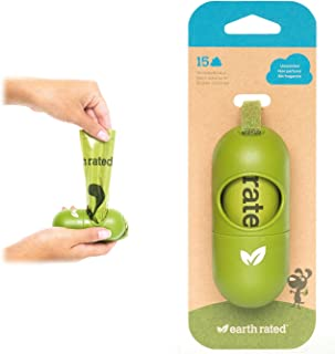 Earth Rated® Green Dispenser with Dog Waste Poop Bags 无香型 1 Dispenser, 15 bags