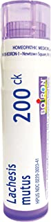 Boiron Lachesis Mutus 200CK, 80 Pellets, Homeopathic Medicine for Hot Flash