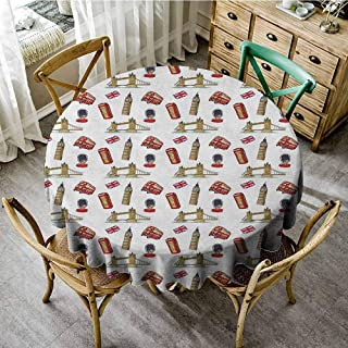 Rank-T Outdoor Round Tablecloth with Umbrella Hole 55