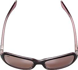 Shiny Black Hibiscus Frame/Silver Mirror 580P