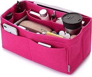 Felt Purse Organizer, Bag in Bag Organizer For Tote & Handbag, Speedy, Neverfull, Medium Large Extra Large (Large, Rose)