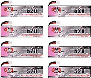 8PCS 520mAh 1S LiPo Battery Tinyhawk Freestyle 3.8V HV LiHv Battery 80C JST-PH 2.0 PowerWhoop mCPX Connector for 75mm Micro FPV Racing Drone Like Trashcan Snapper7 Inductrix FPV Plus etc
