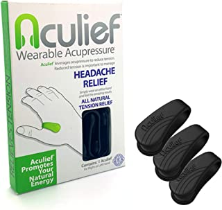 Aculief - Award Winning Natural Headache, Migraine, Tension Relief Wearable – Supporting Acupressure Relaxa...