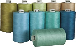 Connecting Threads 100% Cotton Thread Sets - 1200 Yard Spools (Shoreline - Set of 10)