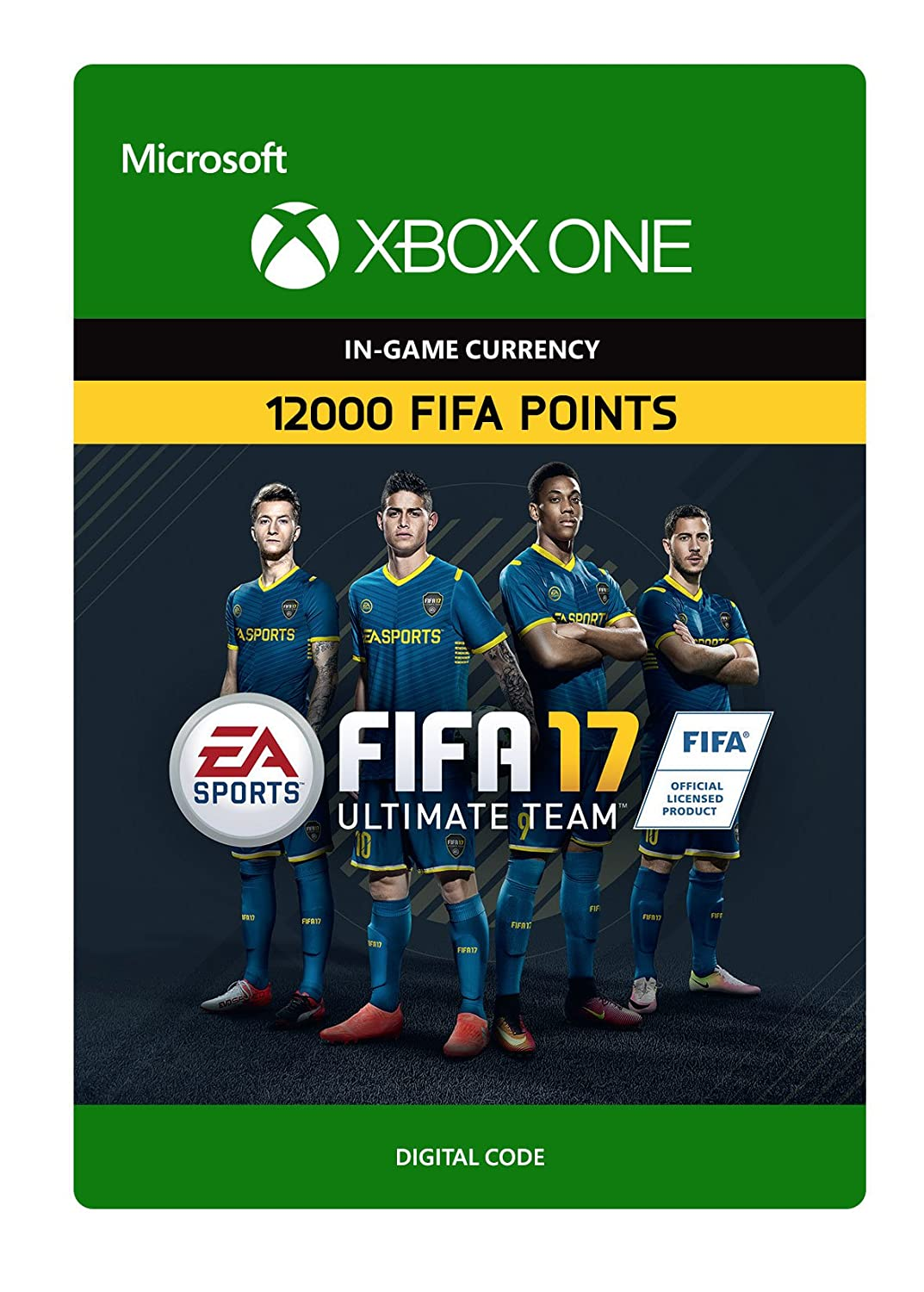 FIFA 17 Choice Ultimate Team Points 12000 One Digital Code Discount is also underway Xbox -