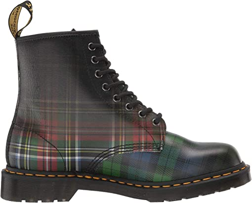 Red Stewart/Black Watch Tartan Backhand Straw Grain