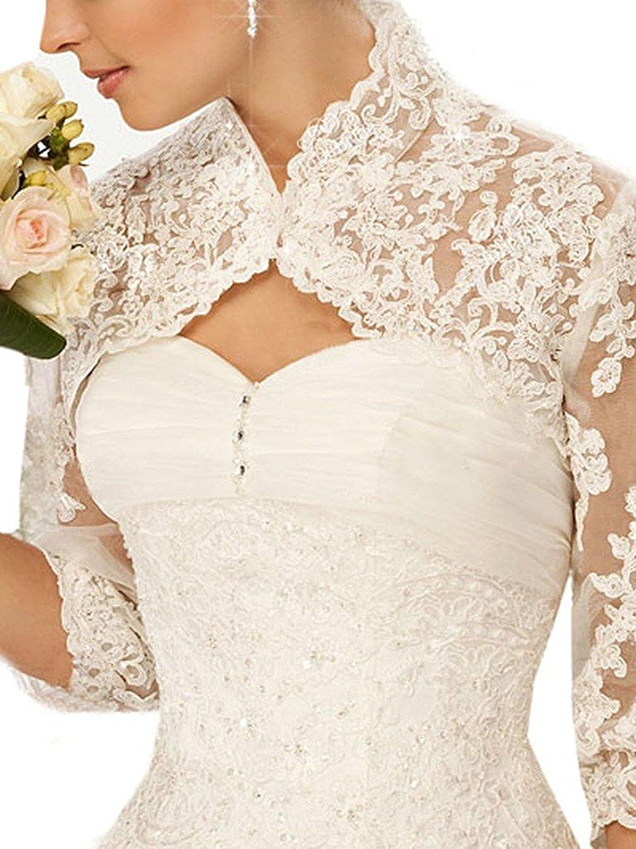EllieHouse Women's Lace Bolero Jacket Wedding Bridal Wraps WJ31