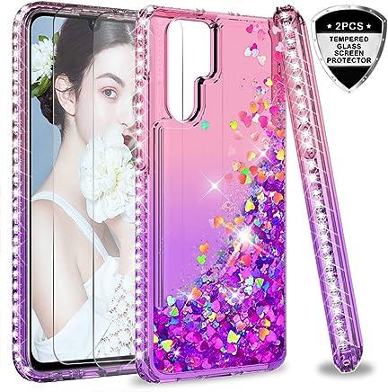 5a5bae50859 LeYi Funda Huawei P30 Pro Silicona Purpurina Carcasa con [2-Unidades  Cristal Vidrio Templado