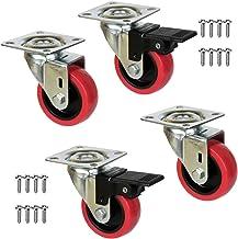 QC-EMILY22P 4 meubelwielen 2 met rem en 2 zonder rem montageplaat en schroeven meegeleverd. Geen vloerbedekking. Stille gl...