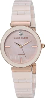 Anne Klein Women's Genuine Diamond Dial Ceramic Bracelet Watch