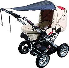 sunnybaby 11272 - Universal Sonnensegel für Kinderwagen & Sportwagen   Sonnenschutz   höchster UV Schutz UPF 50   verstellbar   Markisen-Rollofunktion - Farbe: SCHWARZ   Qualität: MADE in GERMANY
