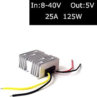 DC 12V 24V 36V to 5V (Accept DC 8-40V Inputs) Truck Car Step Down Power Adapter Voltage Converter Regulator for Car Electr...
