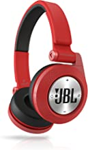 JBL E40BT Red High-Performance Wireless On-Ear Bluetooth Stereo Headphone, Red
