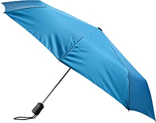 Lewis N. Clark Travel Umbrella: Windproof & Water Repellent with Mildew Resistant Fabric, Automatic Open Close & 1 Year Warranty, Teal