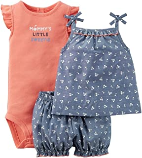 Carters Baby Girls 3 Piece Diaper Cover Set 121g385