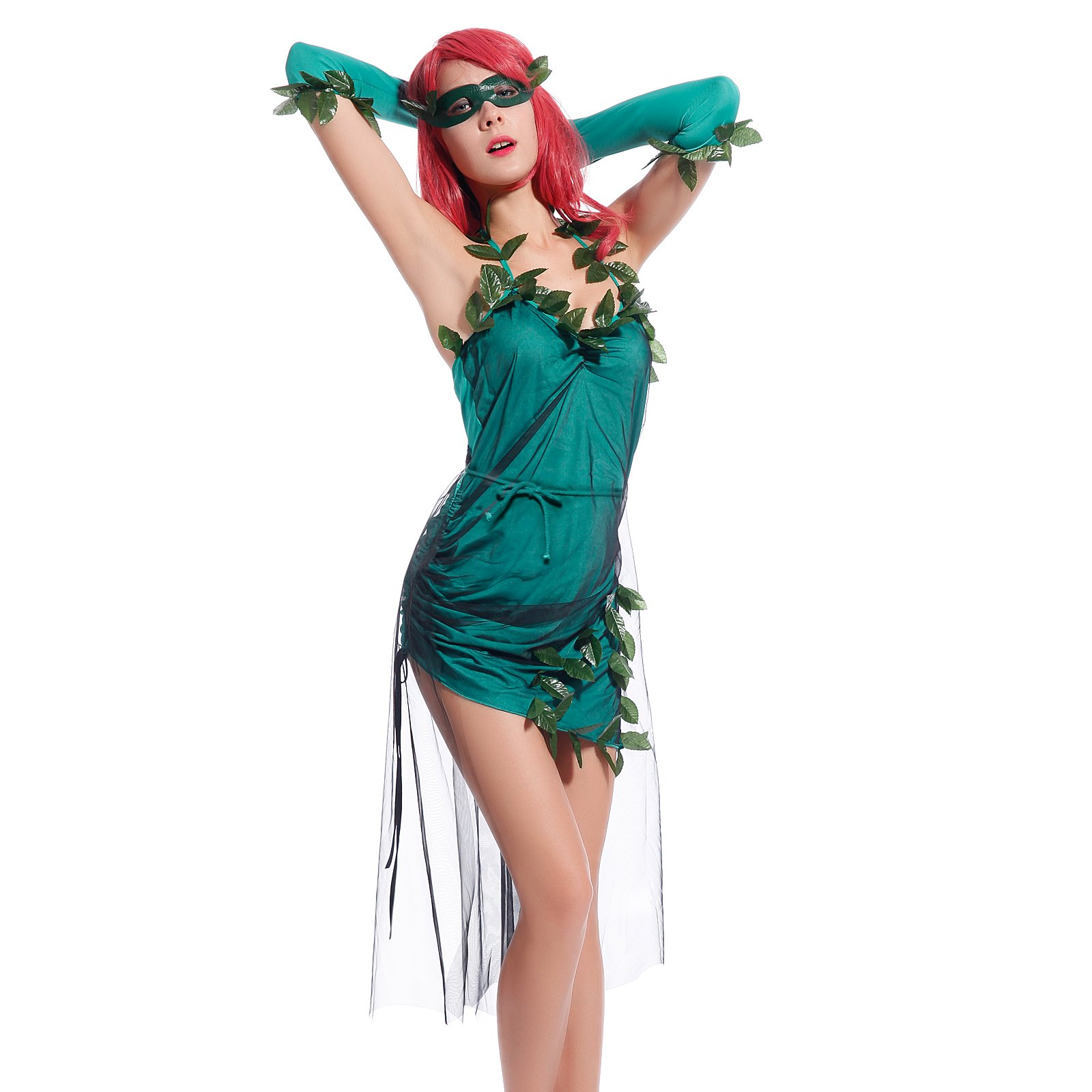 Maboobie - Disfraz Hiedra Venenosa Sexy para mujer Adulto Fiestas ...