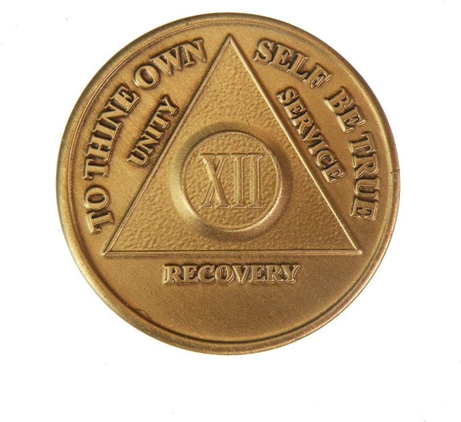 12 Year Bronze AA Alcoholics Anonymous Sobriety Some reservation - Bi Sober Direct store