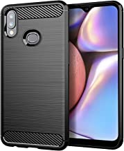 Osophter for Galaxy A10S Case,Samsung A10S Phone Case Shock-Absorption Flexible TPU Rubber Full-Body Protective Cover for Galaxy A10S(Black)