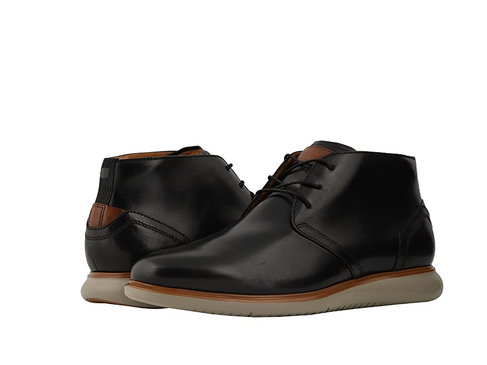 Florsheim Fuel Plain Toe Chukka (Black/Grey Sole) Men