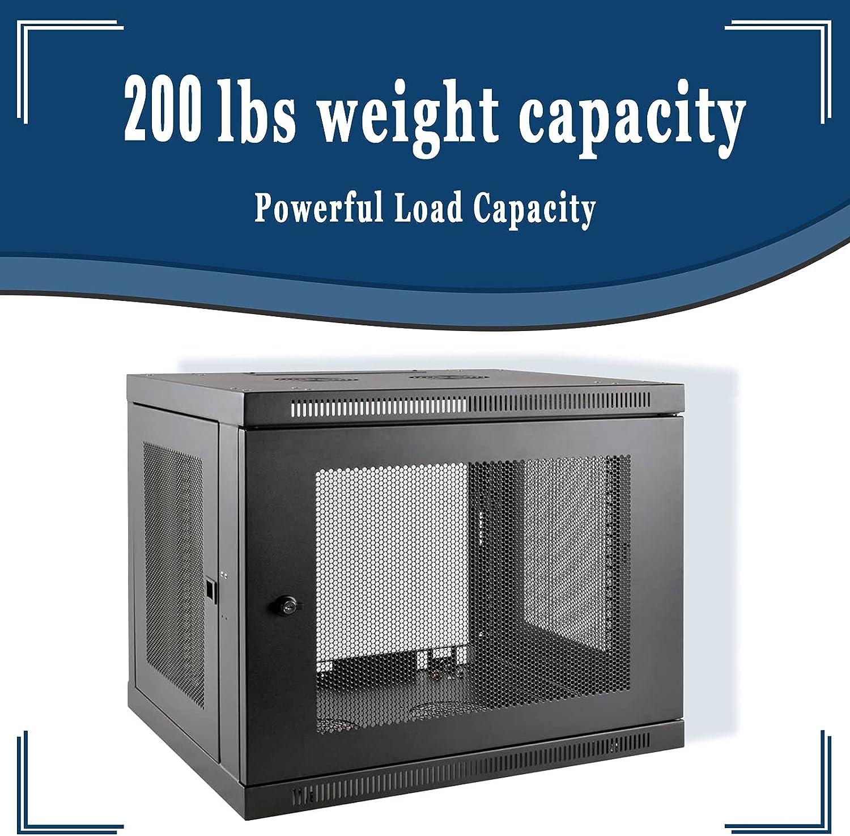9U Wall Mounted Rack Server Cabinet, 20.5 inches deep, Maximum Load 200lb (SRW9UDP)
