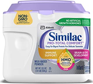 Similac Pro-Total Comfort Infant Formula, Non-GMO, Easy-to-Digest, Gentle Formula, with 2'-FL HMO, for Immune Support, Baby Formula, Powder, 22.5 ounces