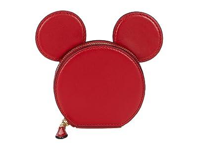 COACH Mickey Leather Ear Coin Case