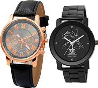 NIKOLA PUBG Military Army Analogue Black Color Dial Boys Watch - B192-B165 (Pack of 2)