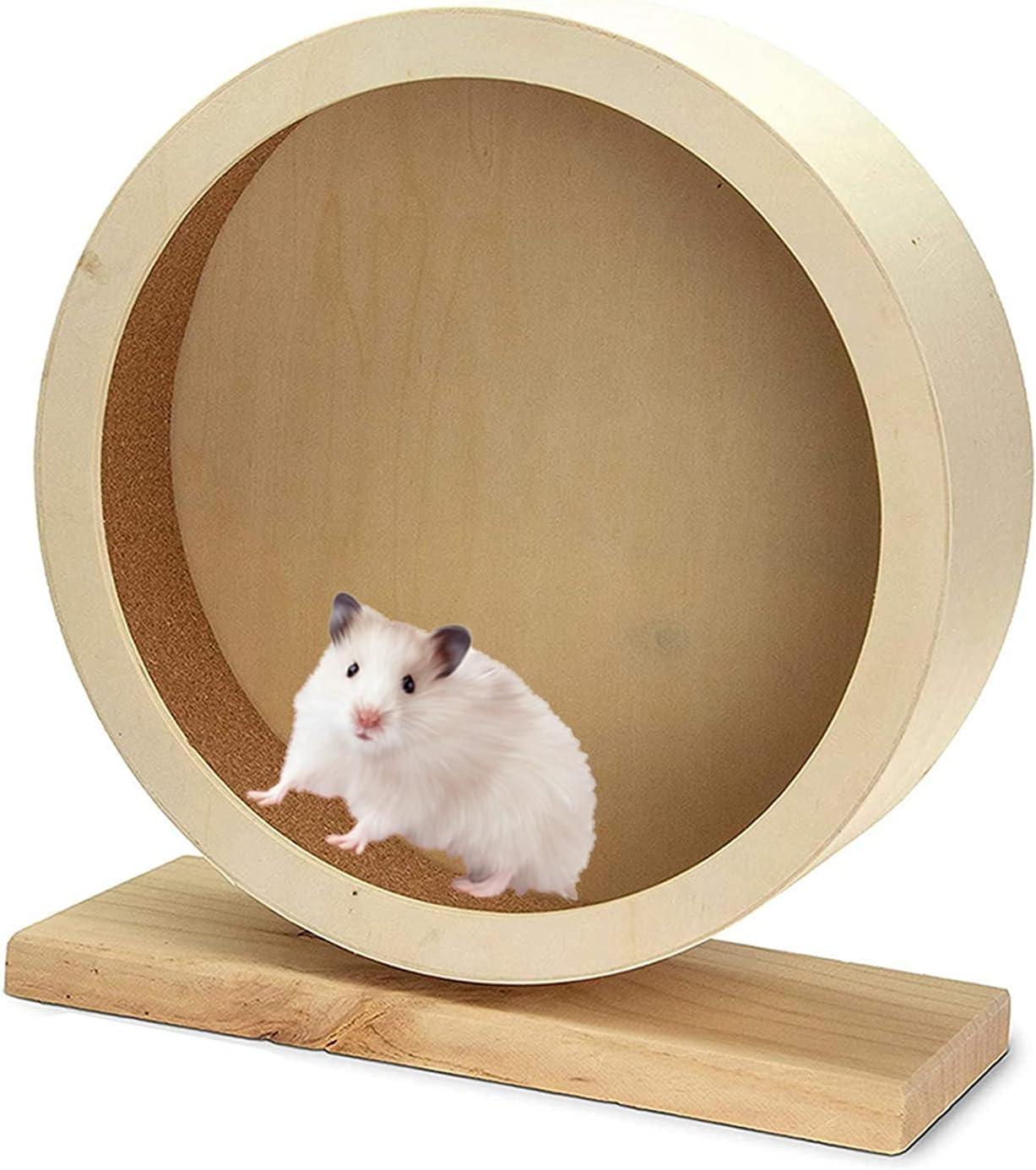Hamster Under blast sales Wooden Memphis Mall Wheel Silent Toy 6.8 Running in N