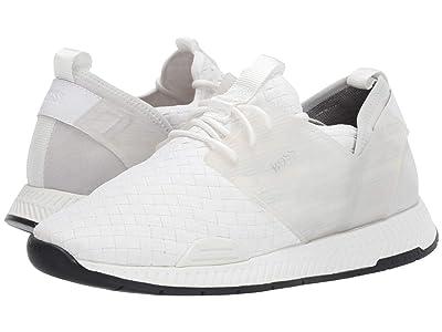 BOSS Hugo Boss Titanium Woven Sneaker by BOSS (White) Men